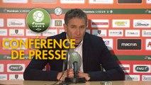 Conférence de presse RC Lens - AS Béziers (3-0) : Philippe  MONTANIER (RCL) - Mathieu CHABERT (ASB) - 2018/2019