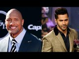 Varun Dhawan Shows His Love for 'The Rock' in Front of Kids on Children's Day   Dwayne Rock Johnson