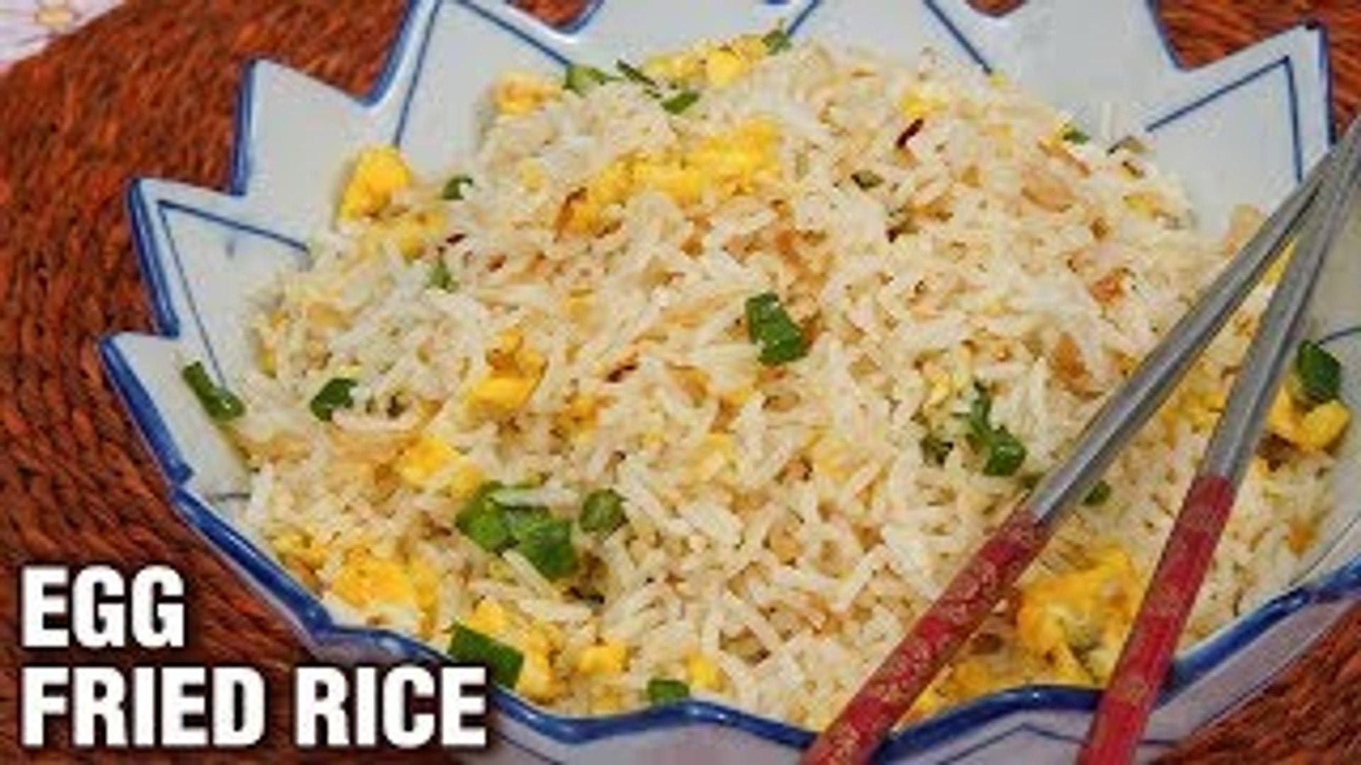 Egg Fried Rice Recipe - Quick & Easy Fried Rice Recipe - Indo-Chinese Recipe - Tarika