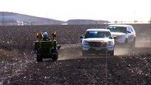 Course-poursuite incroyable d'une entre la police et... un homme en tracteur !