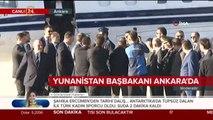 Cumhurbaşkanı Yardımcısı Fuat Oktay, Çipras'ı karşılıyor