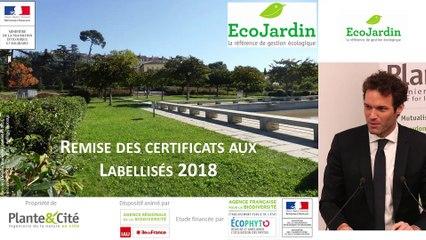 9 - Remise des certificats - Rencontre EcoJardin 2019