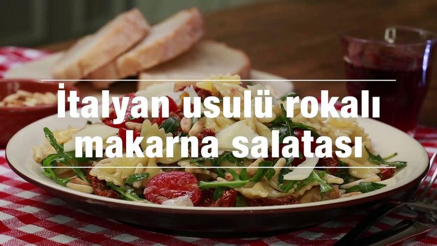 italyan usulu rokali makarna salatasi