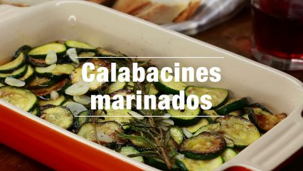 Calabacines Marinados