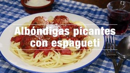 Albondigas Picantes Con Espagueti