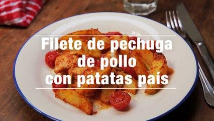 Filete De Pechuga De Pollo Con Patatas Pais