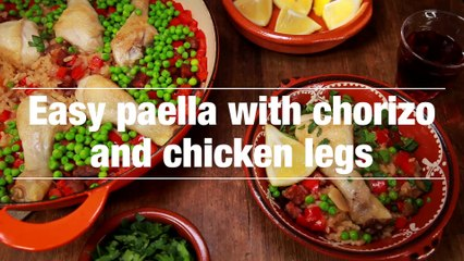 Easy Paella With Chorizo And Chicken Legs