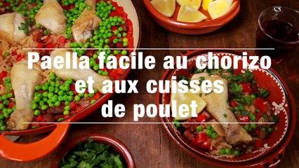 Paella Facile Au Chorizo Et Aux Cuisses De Poulet