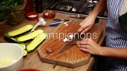 Rezept: Gefüllte Zucchini - vegetarisch