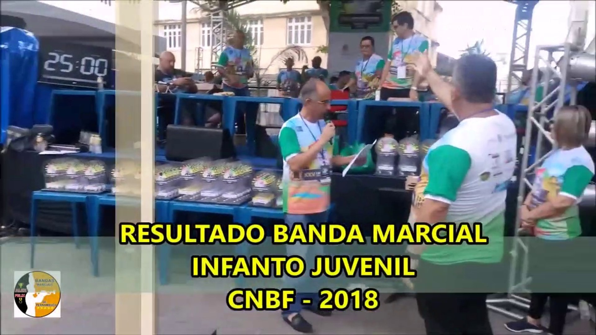 CNBF 2018 - RESULTADO BANDA MARCIAL INFANTO JUVENIL - CAMPEONATO NACIONAL DE BANDAS E FANFARRAS