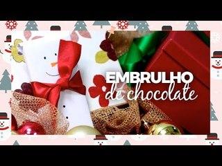 Como fazer embrulho de chocolate - DIY