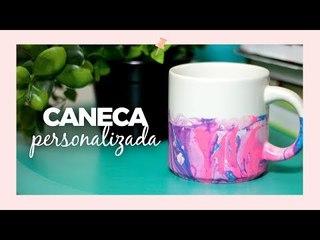 Caneca personalizada com esmalte - DIY
