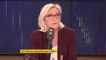 """Eric Drouet : """"Je ne l'ai jamais approché moi-même, et je ne l'ai jamais fait approcher"""" affirme Marine Le Pen. """"""""C'est un #GiletJaune parmi les autres"""""""