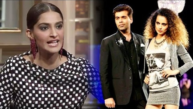 OMG! Sonam Kapoor Doesn't Approve Of Kangana-KJo's Mudslinging War