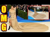 Priyanka Chopra Breaks Record for Longest Trench Coat at Met Gala 2017