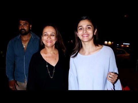 Alia Bhatt & her mother Soni Razdan snapped at the airport