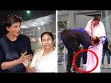 SRK Touching Mamta Banerjee's FEET At Kolkata Airport Will Melt Ur Heart