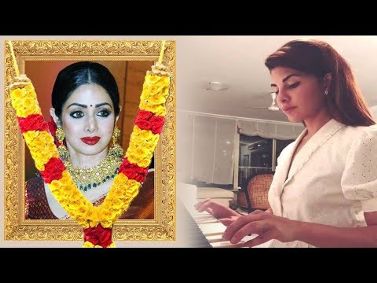 EMOTIONAL Jacqueline Fernandez Playing SAD Piano Tune For Sridevi PASSING AWAY Will Make You CRY