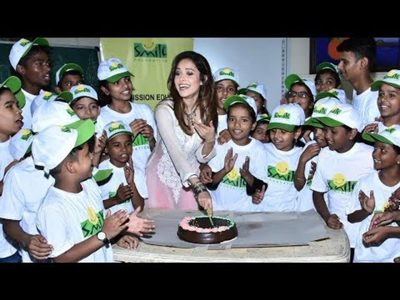 Nushrat Bharucha Celebrates Her Birthday With Kids From Smile Foundation