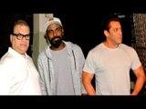 Salman Khan With Remo D'Souza & Ramesh Turani At Shankar Mahadevan's Studio In Bandra   Race 3