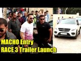 Salman Khan's MACHO Entry At RACE 3 Trailer Launch | Sikander Grand Entry