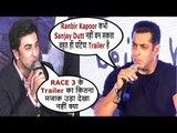 Salman Khan REACTION On SANJU Trailer | Ranbir Kapoor Gets ANGRY On Salman Khan | Sanju | Race 3