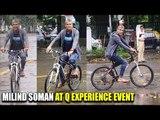 LIVE: Milind Soman CYCLING Around The City MUMBAI | Enjoying The Rain | Q Experience Events