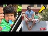 LIVE: CUTE Taimur Ali Khan WAITING FOR GANPATI With Daddy Saif Ali Khan | BEST FATHER SON DUO