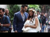 Pregnant Neha Dhupia CUTE MOMENT With Hubby Angad Bedi at Baby Showering
