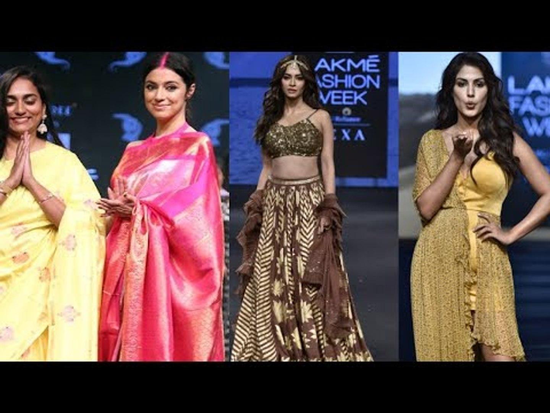 Kriti Kharbanda, Divya Khosla Kumar,SACRED GAMES KUCKOO walk ramp at Lakme Fashion Week Summer 2019