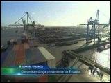 Droga decomisada en barco que zarpó desde Guayaquil habría sido colocada en alta mar