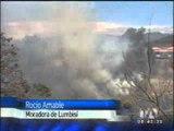 Incendios en los valles de Quito