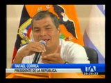 Correa habló del perdón a los estudiantes detenidos en Quito
