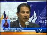 José Francisco Cevallos renuncia al Ministerio del Deporte