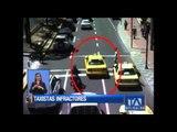 Taxistas imprudentes son captados por las cámaras de la AMT