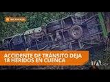 Un accidente de tránsito de un bus interparroquial deja 18 heridos