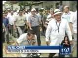 El presidente Correa realiza recorridos por varias obras - Teleamazonas