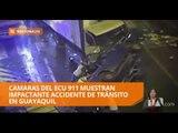 Impactante accidente de transito en Guayaquil