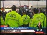 Paralización de taxistas informales en Carapungo y Calderón