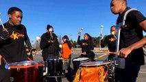Le groupe Vakband en répétition pour le carnaval des deux rives