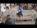 Coldplay Yellow Acoustic Cover / Street Busking Hongdae