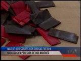 Dos mujeres fueron detenidas por tener más de 100 sobres de droga