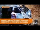Accidente de tránsito en Nobol fue coordinado por el ECU 911 - Teleamazonas
