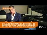 Interpol no se ha pronunciado sobre el pedido de difusión roja contra Correa - Teleamazonas