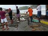Desastre en Súa por fuerte oleaje - Teleamazonas
