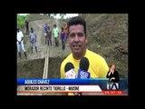 Interrupción de vía deja aisladas a varias parroquias en Esmeraldas -Teleamazonas