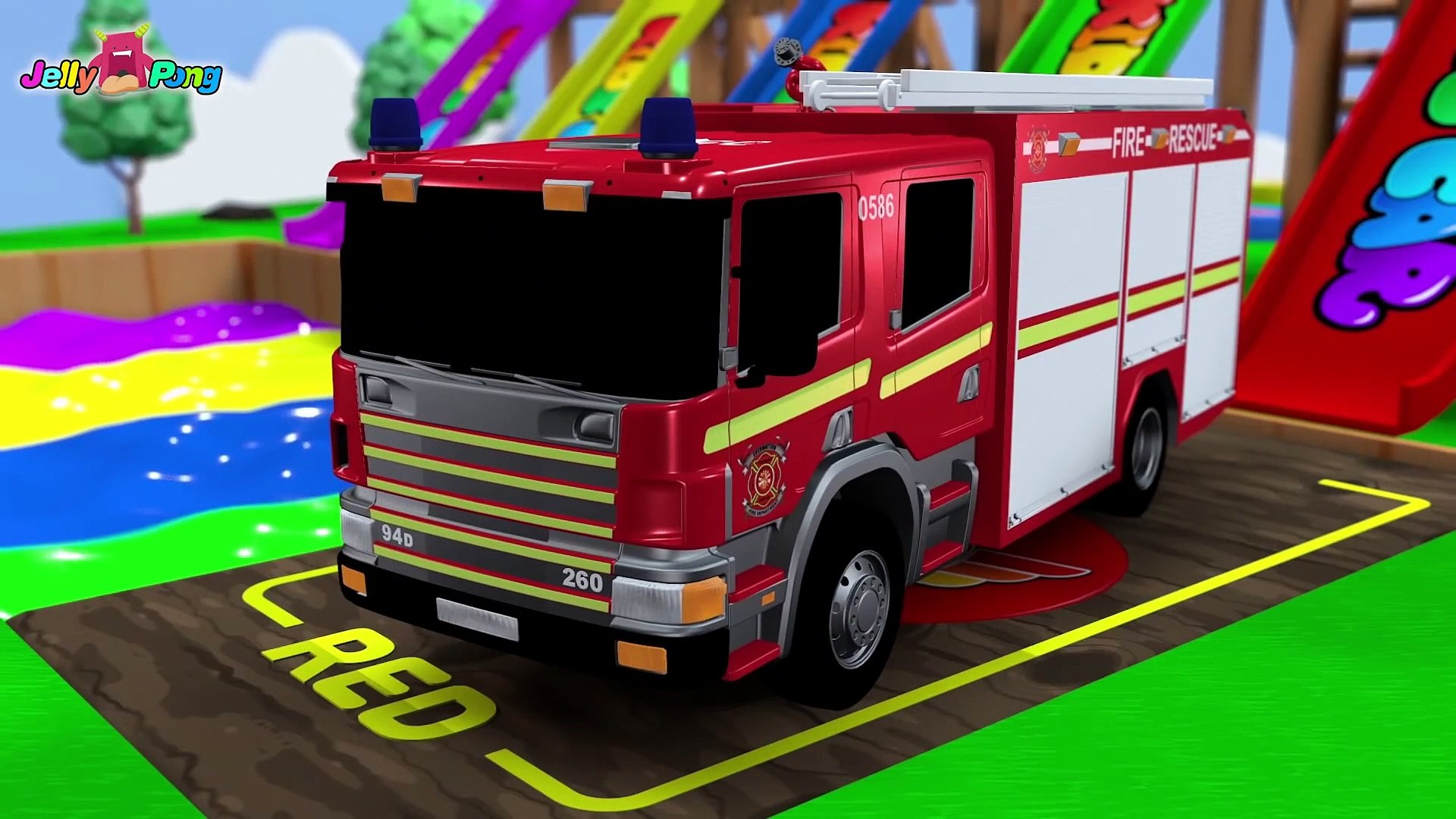 - Learning Colors City Vehicle Car Carrier Fire Truck Police Car