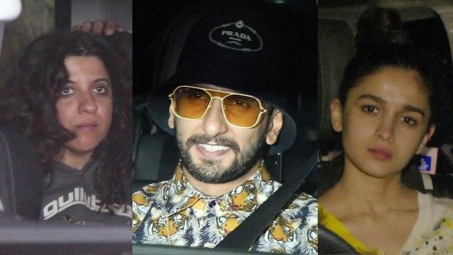 Ranveer Singh, Alia Bhatt, Zoya Akhtar attend special Gully Boy screening
