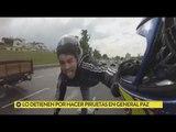 Detenido por hacer piruetas en moto en General Paz