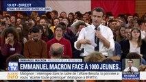 """Emmanuel Macron: """"Notre société n'est pas juste pour les mamans qui élèvent seules leurs enfants et veulent travailler"""""""